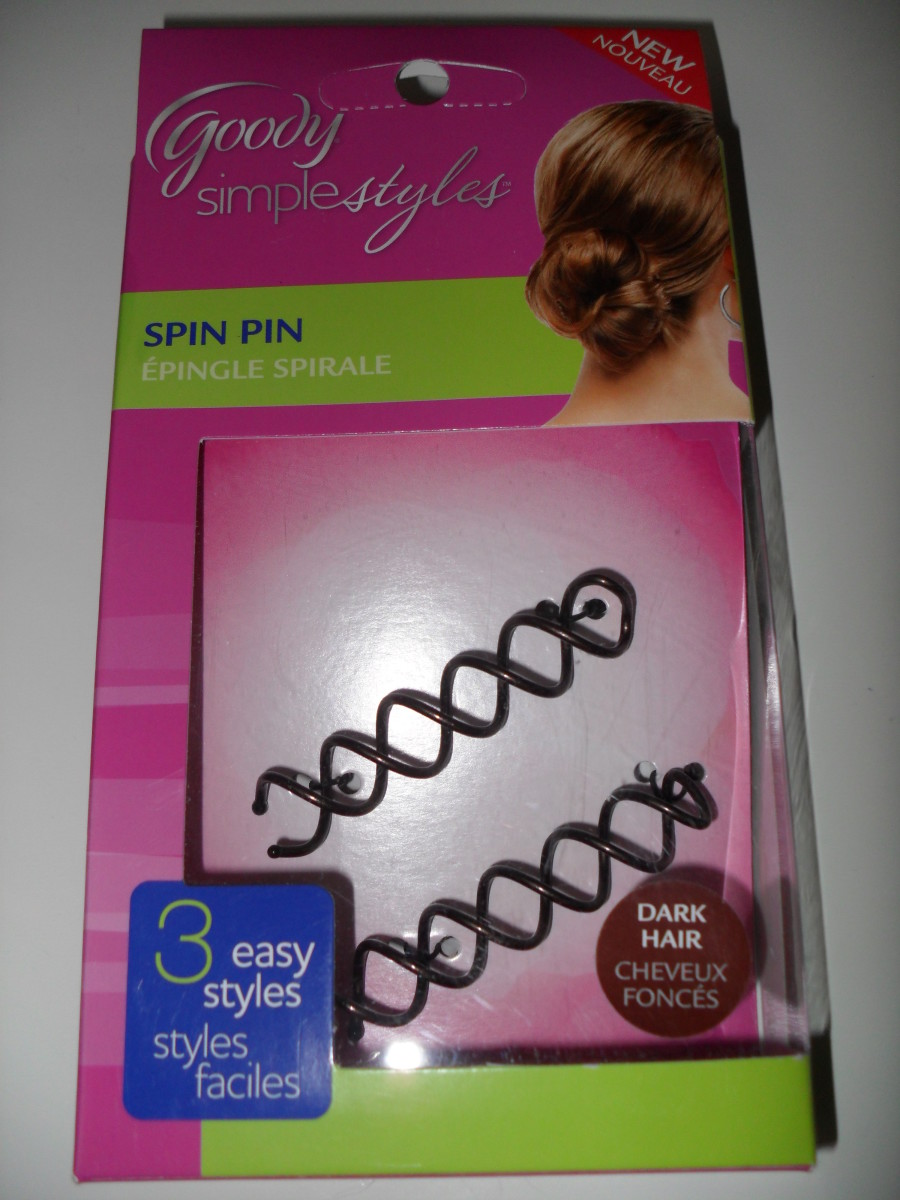Hairstyle ideas: the spin pin accessory
