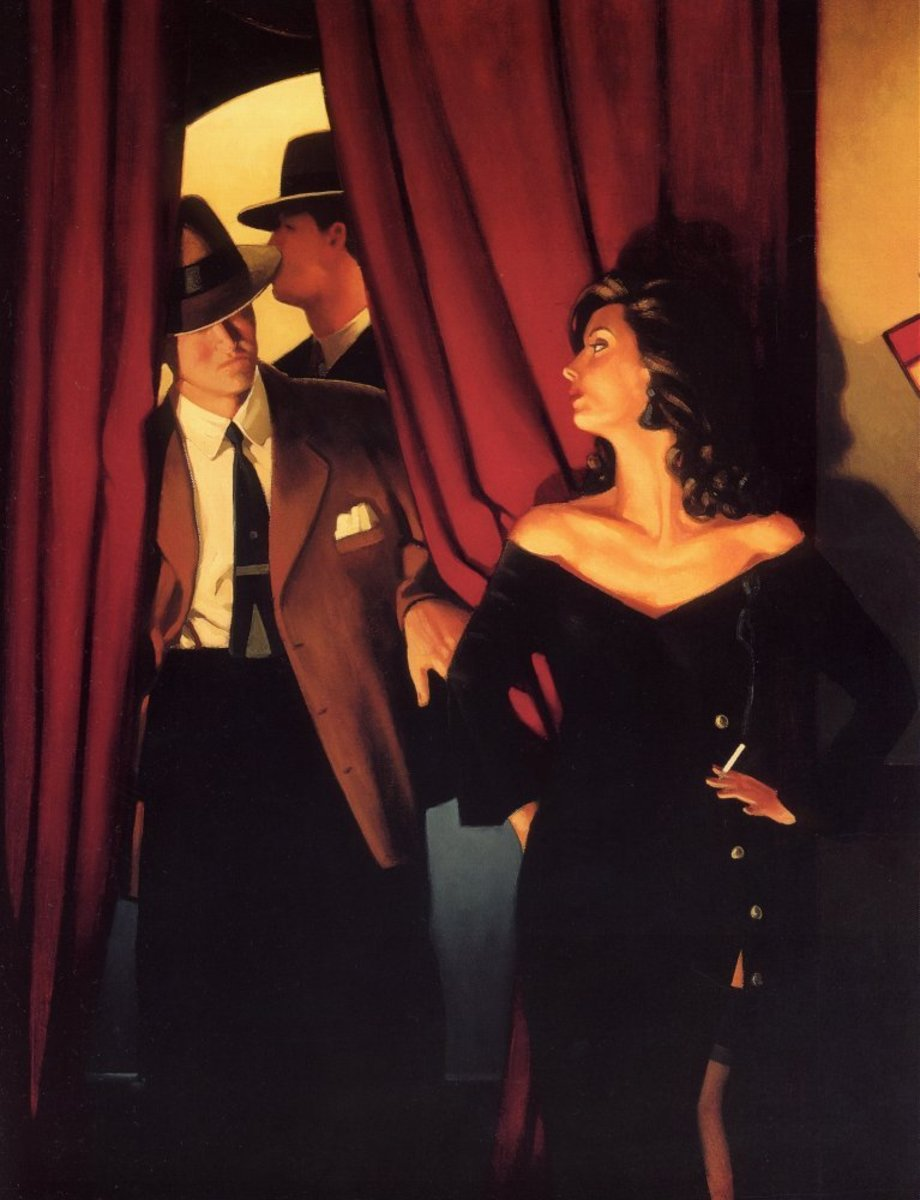 'The Purple Cat' By Jack Vettriano