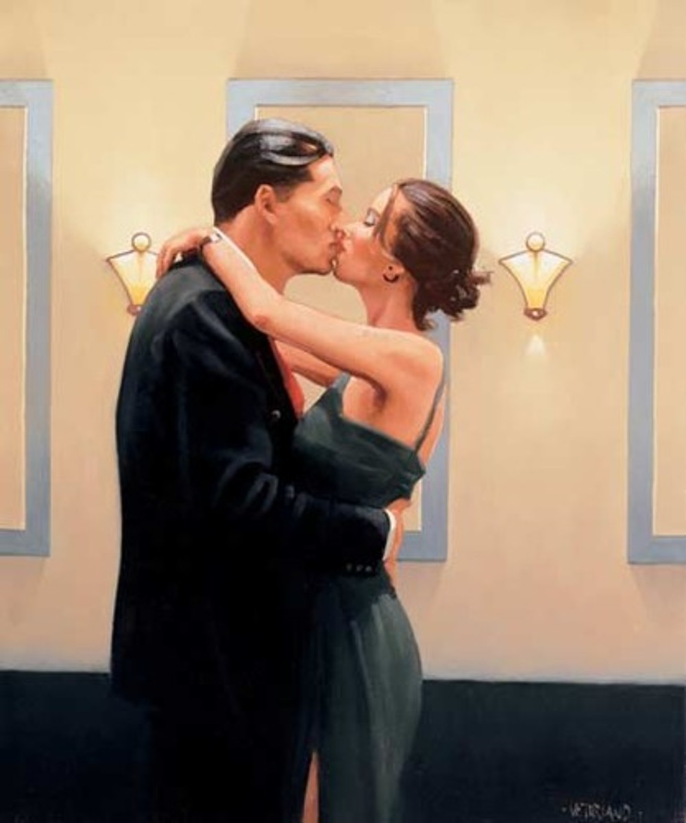 'Betrayal: First Kiss' By Jack Vettriano