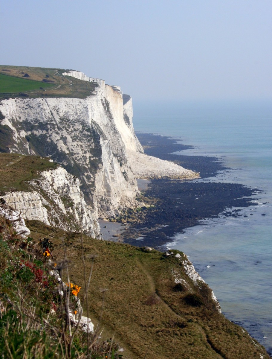 Part of the White Cliffs lanslide which fell into the sea