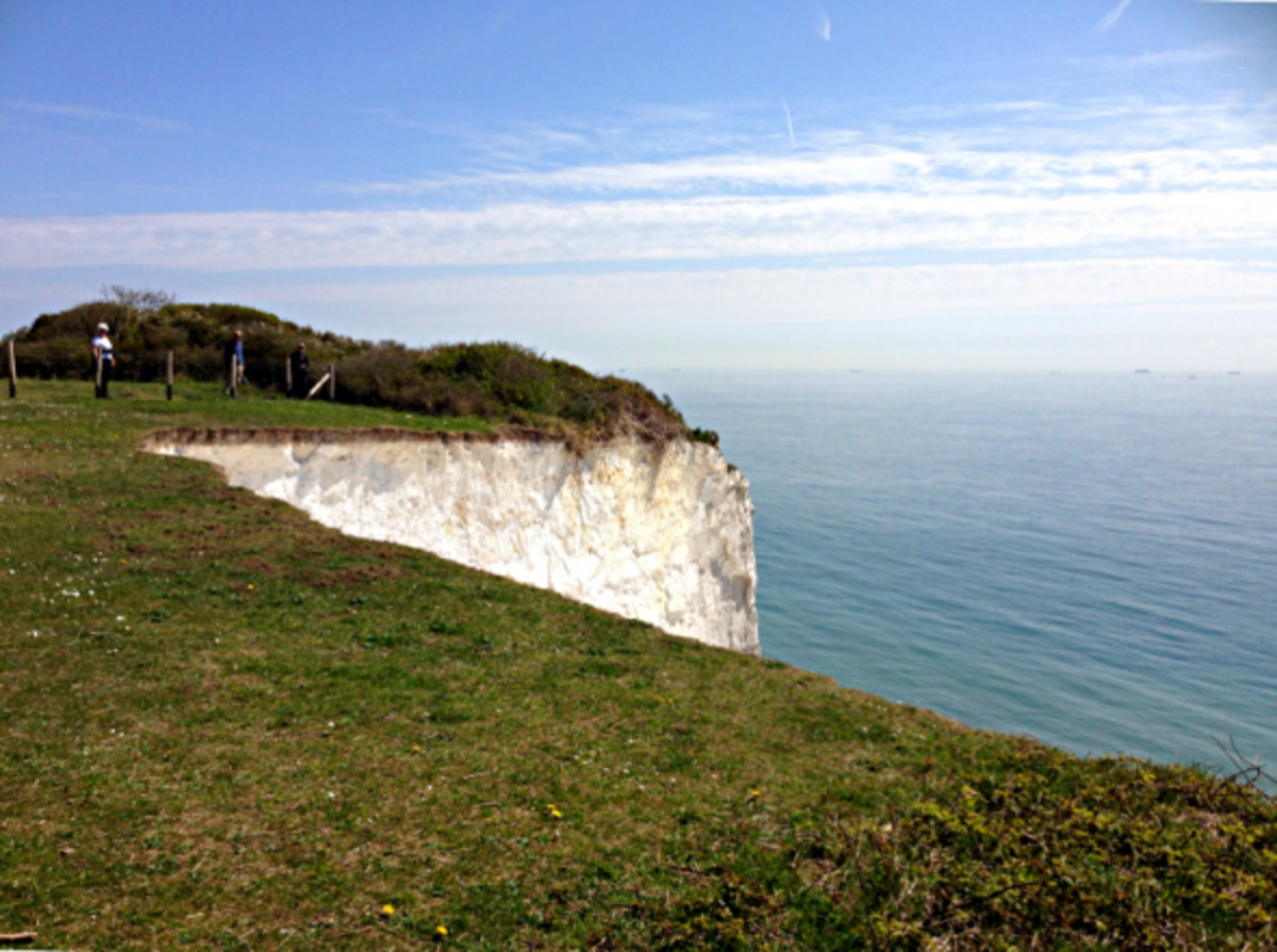 The missing portion of White Cliffs