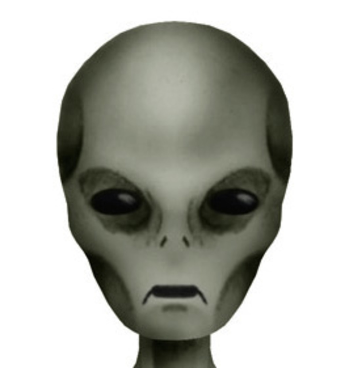 A rendition of the modern grey alien. Was this what Betty had seen, or were her earlier illustrations correct?