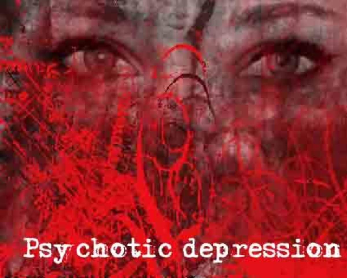 A person suffering from psychosis might think that they are possessed by the devil.