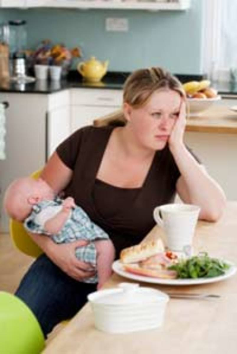 Some women can experience postpartum Depression for up to a year.