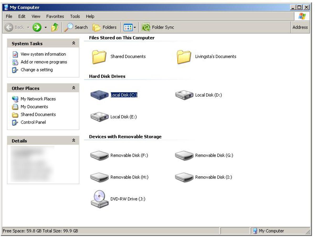"Go to My computer -  Go into C:  ""Windows XP"" screenshot"