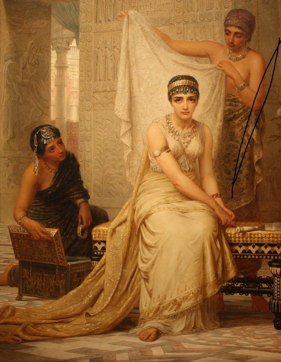 Painting of Esther (1878) in the National Gallery of Victoria, Melbourne.