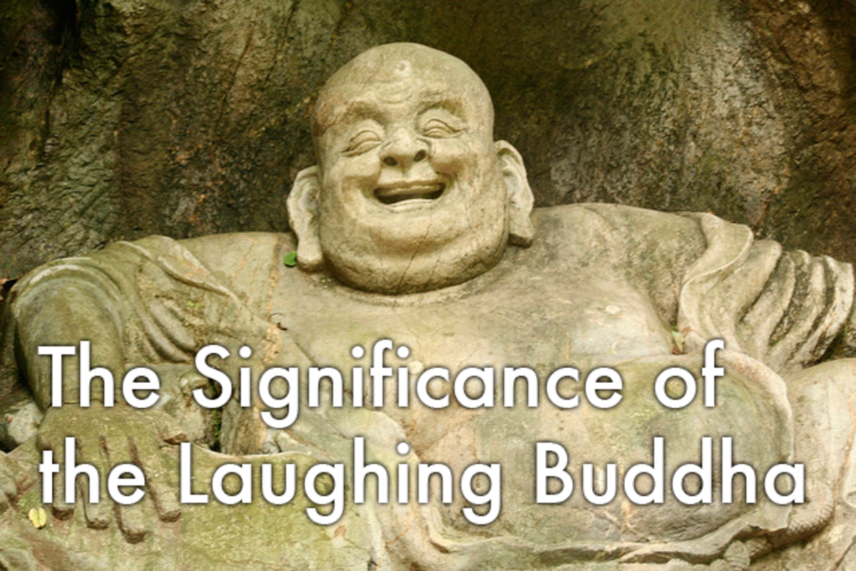 What is the significance of a laughing Buddha?