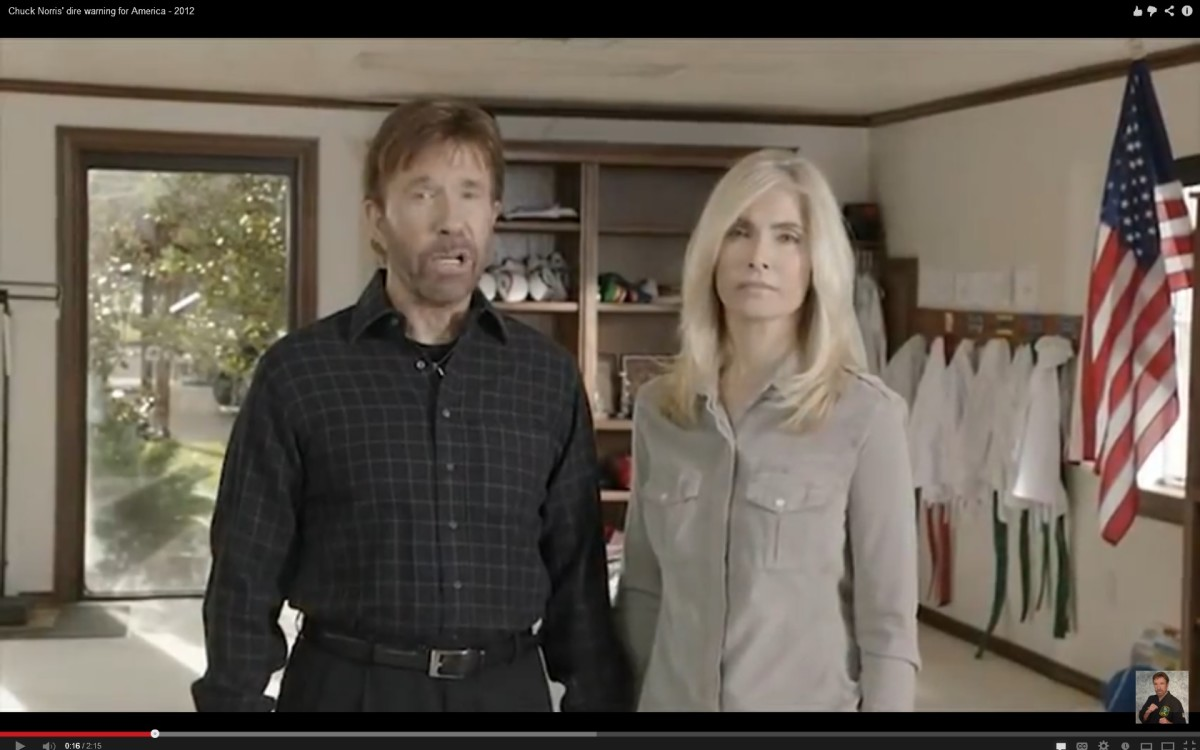 Chuck Norris at age 72 with his wife.