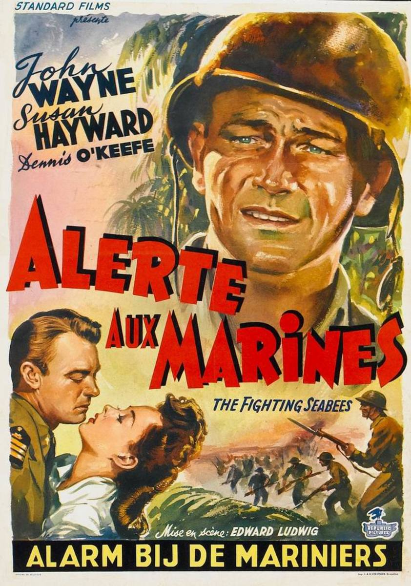 The Fighting Seabees (1944) Belgian poster