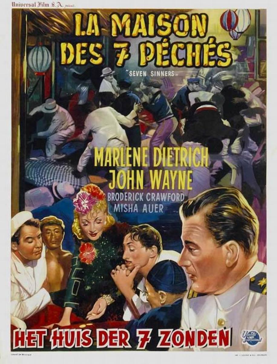 Seven Sinners (1940) Belgian poster