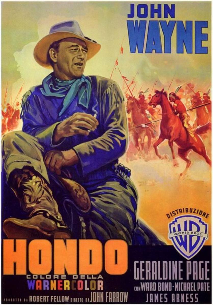 Hondo (1953) Italian poster