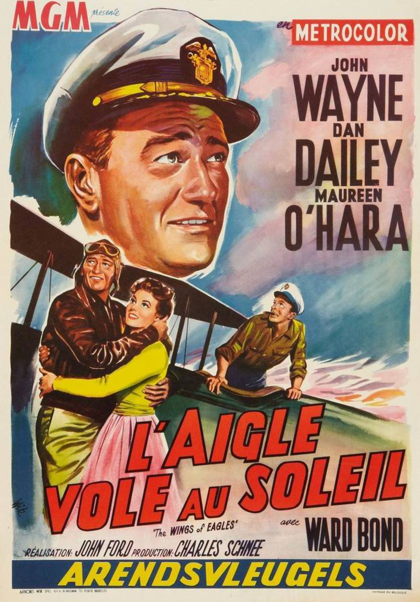 The Wings of Eagles (1957) Belgian poster