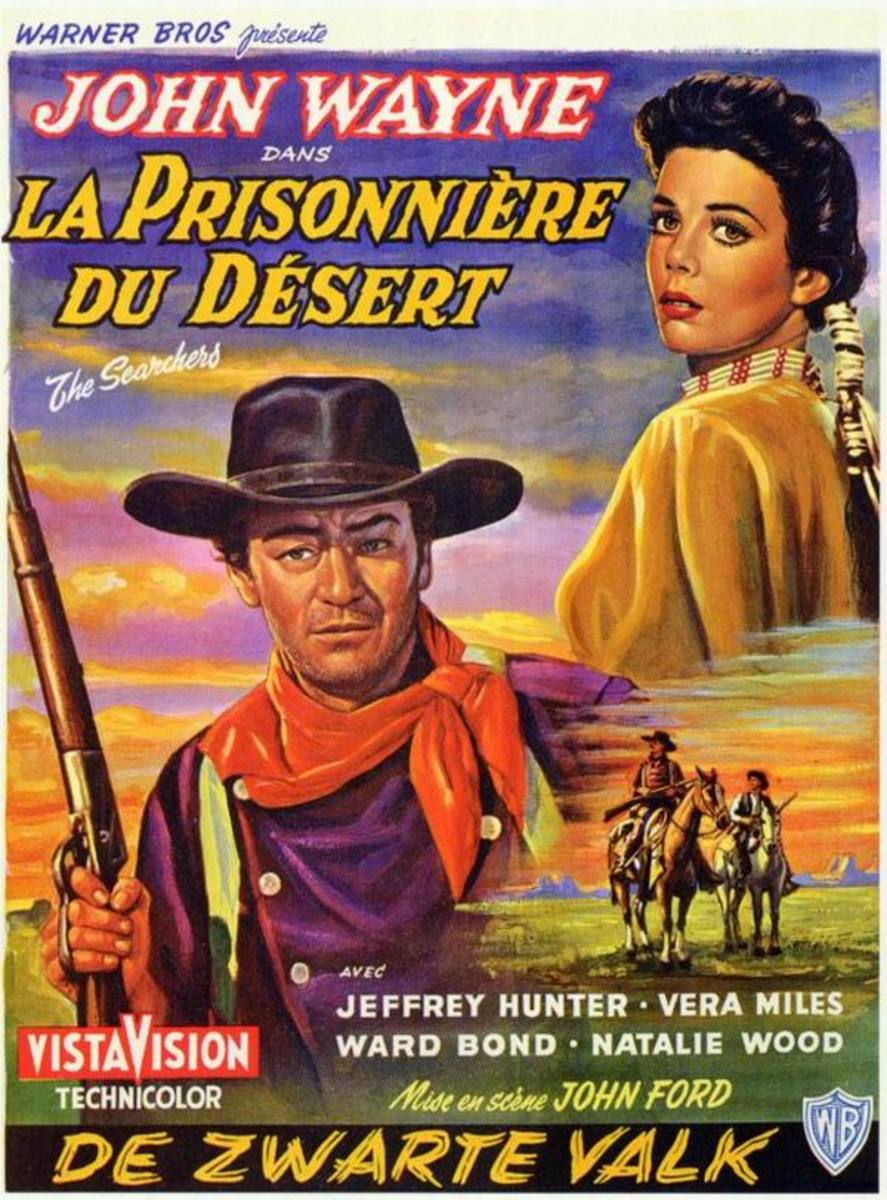 The Searchers (1956) Belgian poster