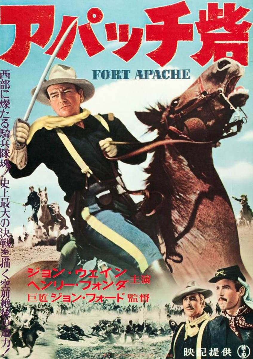Fort Apache (1948) Japanese poster