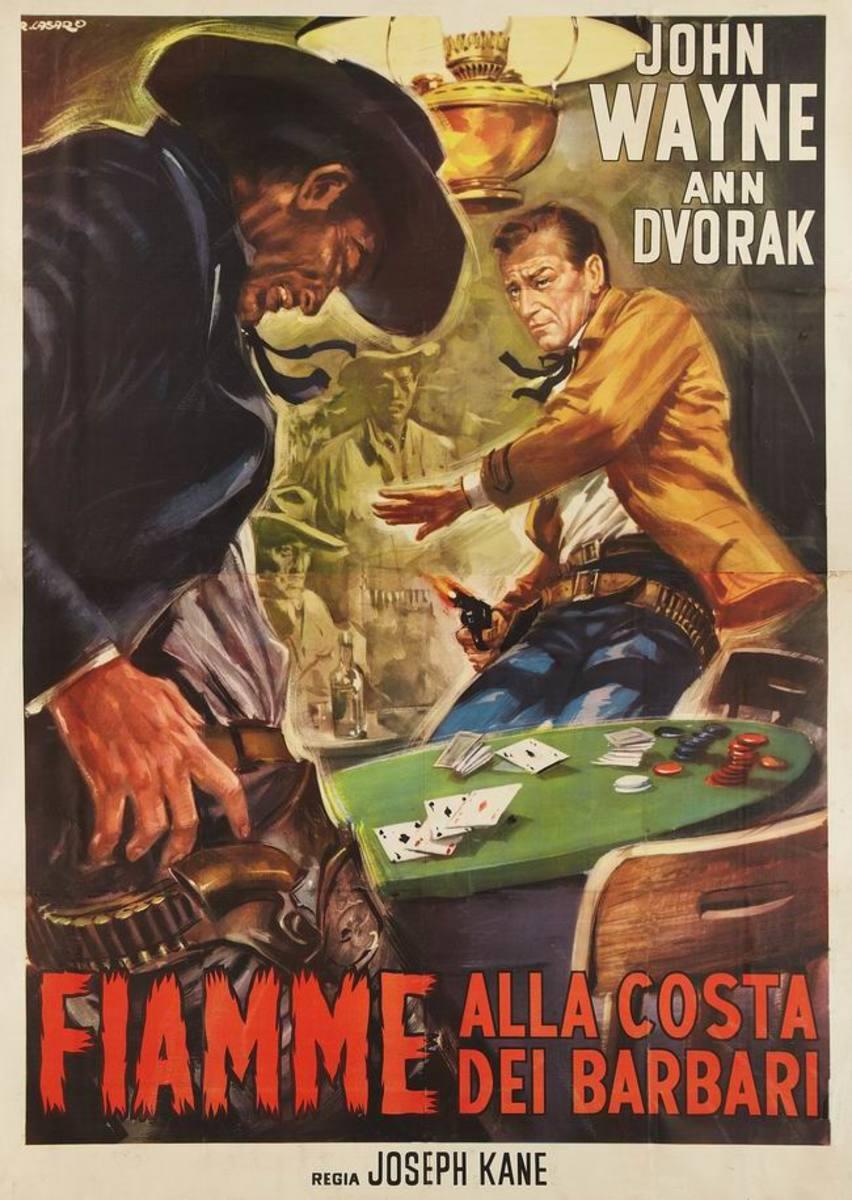 Flame of Barbary Coast (1945) Italian poster