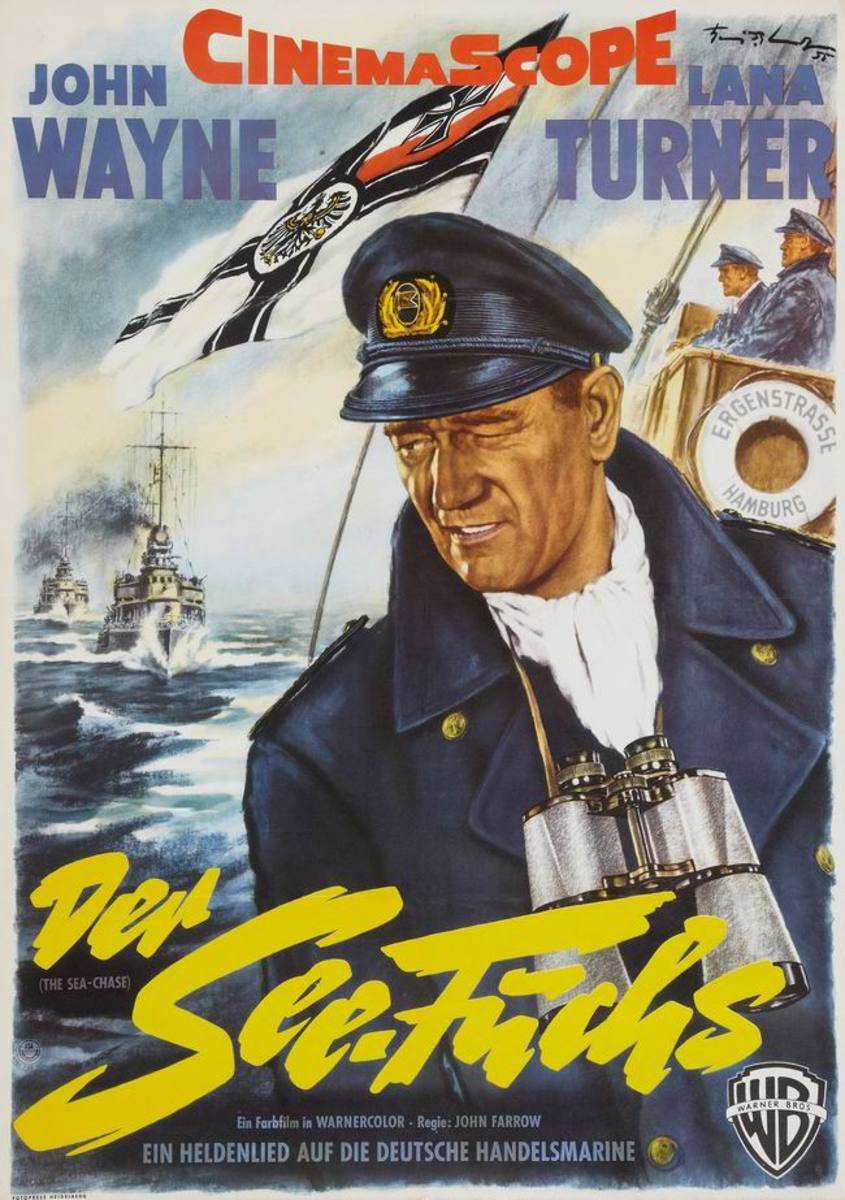 The Sea Chase (1955) German poster