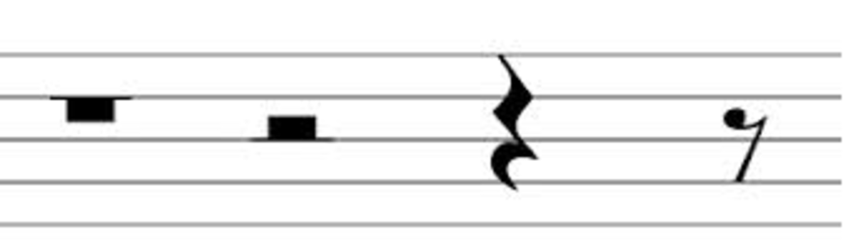 The various types of rests found in sheet music.