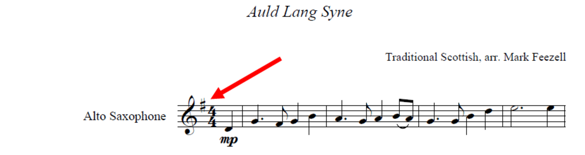 How to find the key signature on a piece of sheet music.