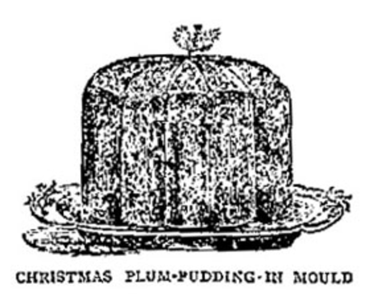 A moulded Christmas pudding