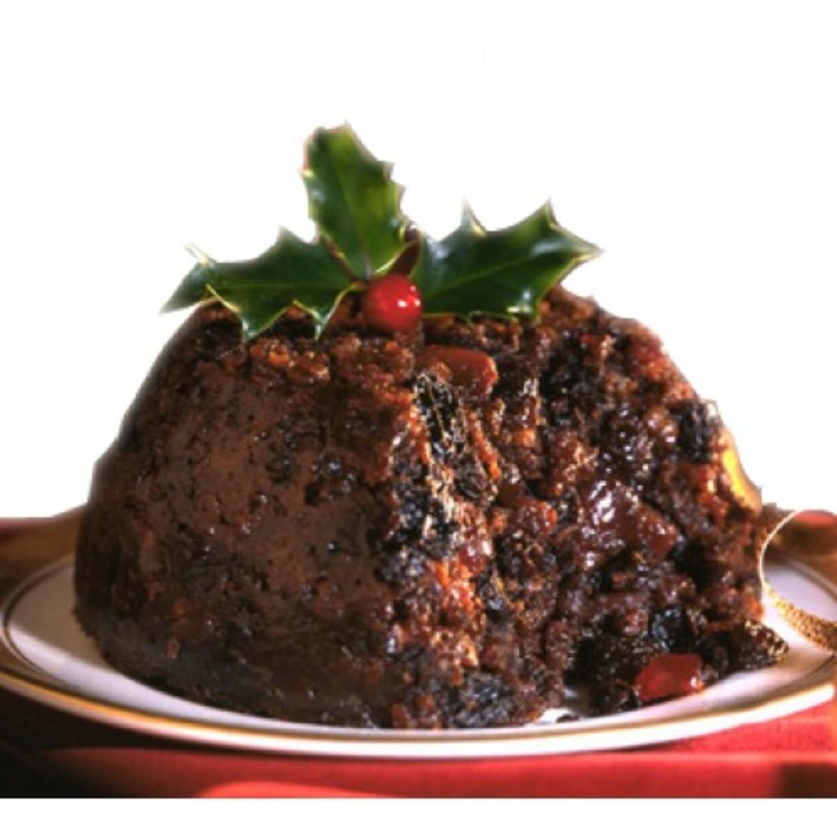 A standard modern Christmas pudding
