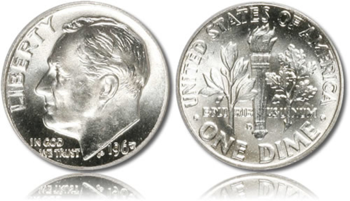 A silver American dime