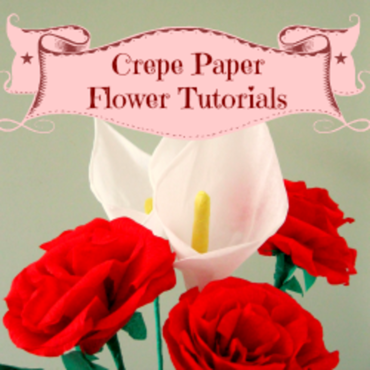How To Make Crepe Paper Flowers - Step by Step Tutorials