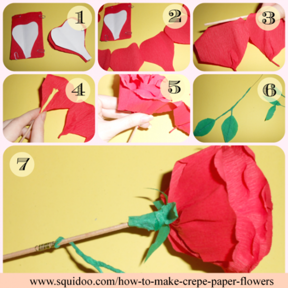 How to make crepe paper flowers step by step tutorials hubpages step by step tutorial in pictures and words mightylinksfo