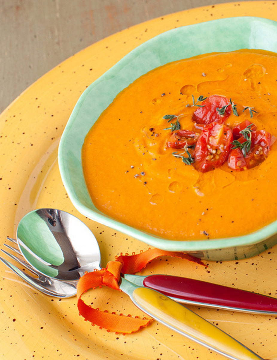 Healthy Tomato Mushroom Bisque