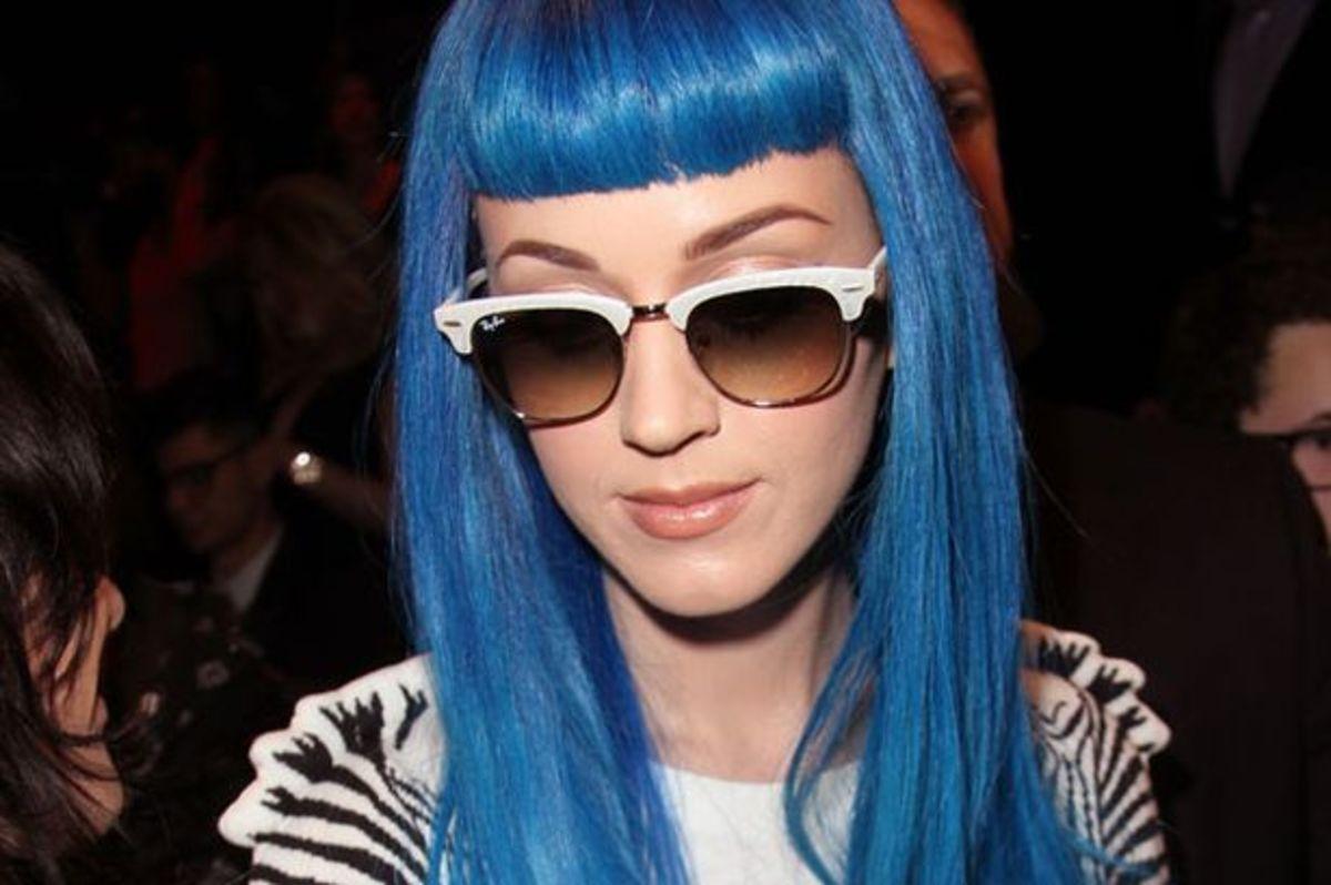 Wild blue hair