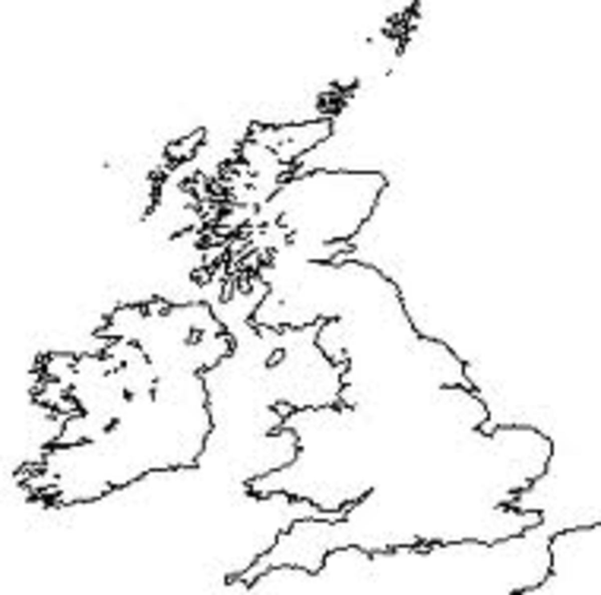 british isles map blank Geography Lesson Plans The British Isles Hubpages british isles map blank
