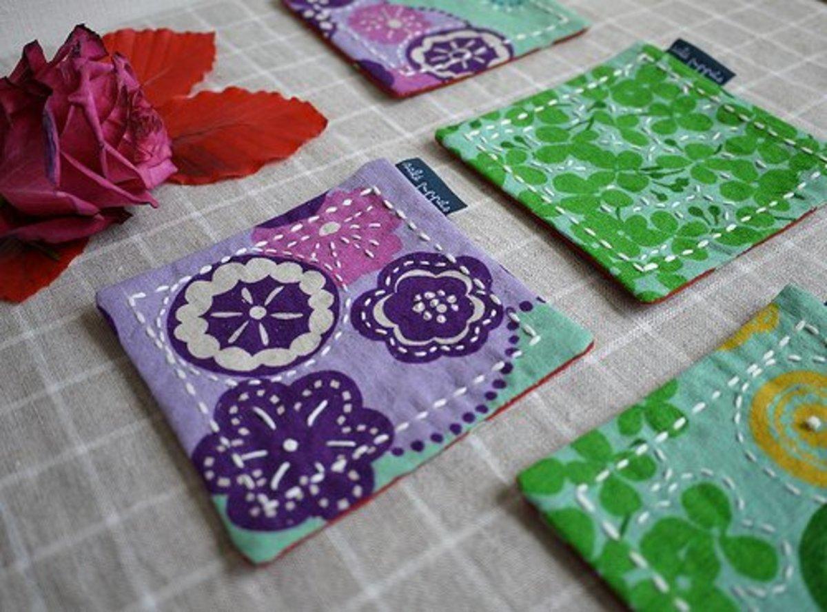 Fabric coasters.