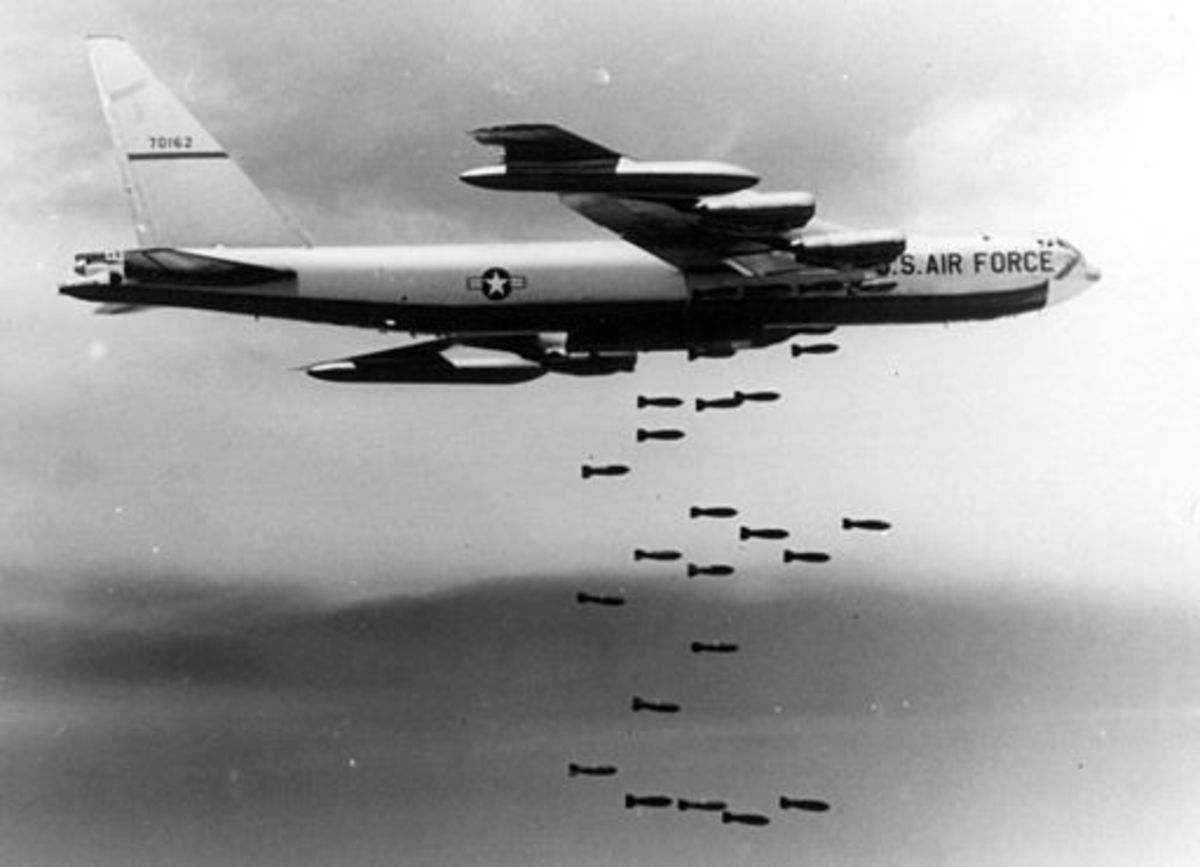 Laos was prolifically bombed by the USAF.