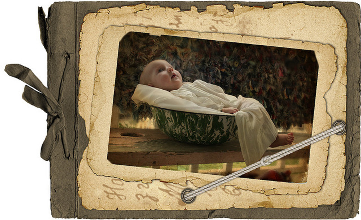 Example for a baby scrapbook