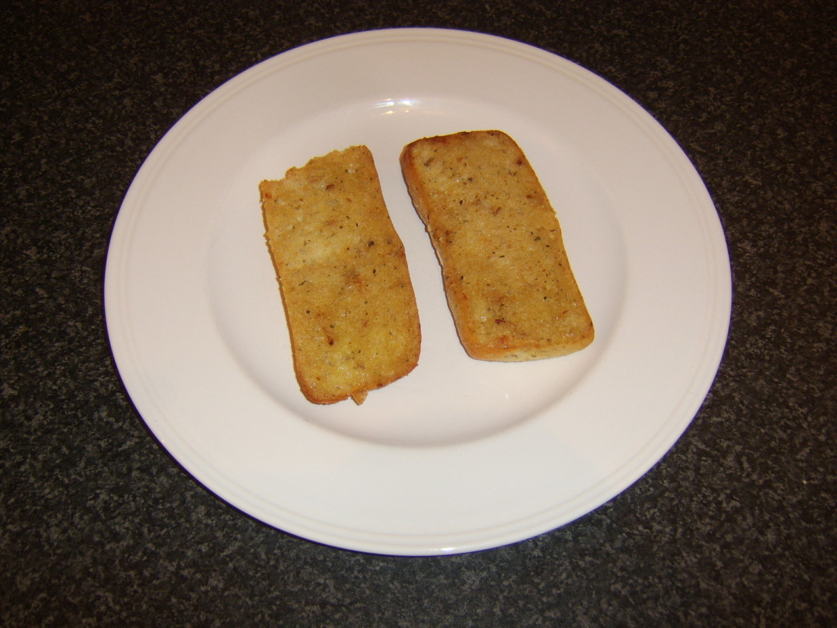 Pan coloured ciabatta halves