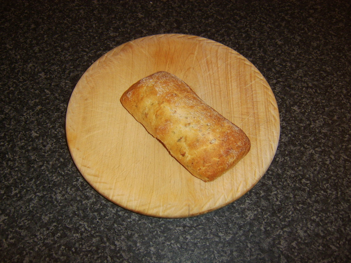 Ciabatta bread roll