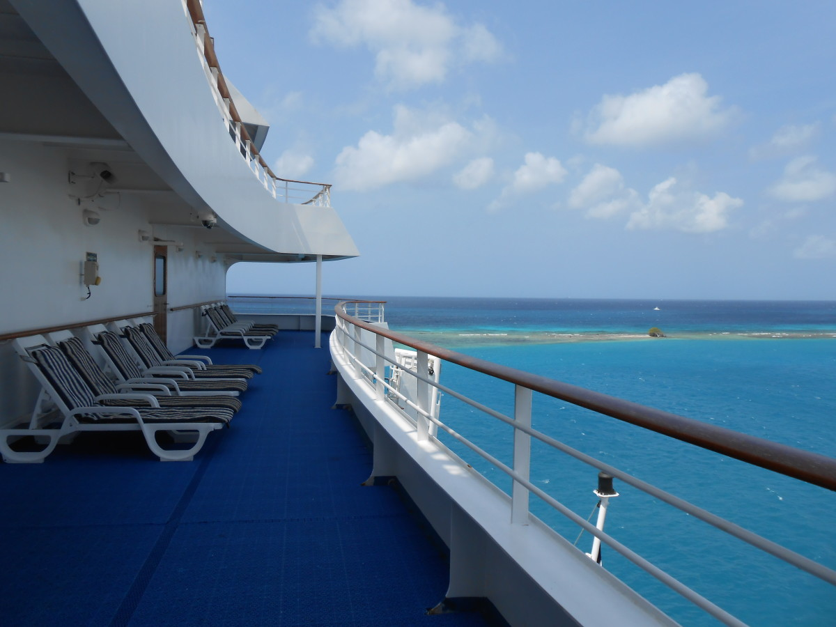The back deck of the cruise ship in Aruba. This was my favorite place to read and spend time with God.