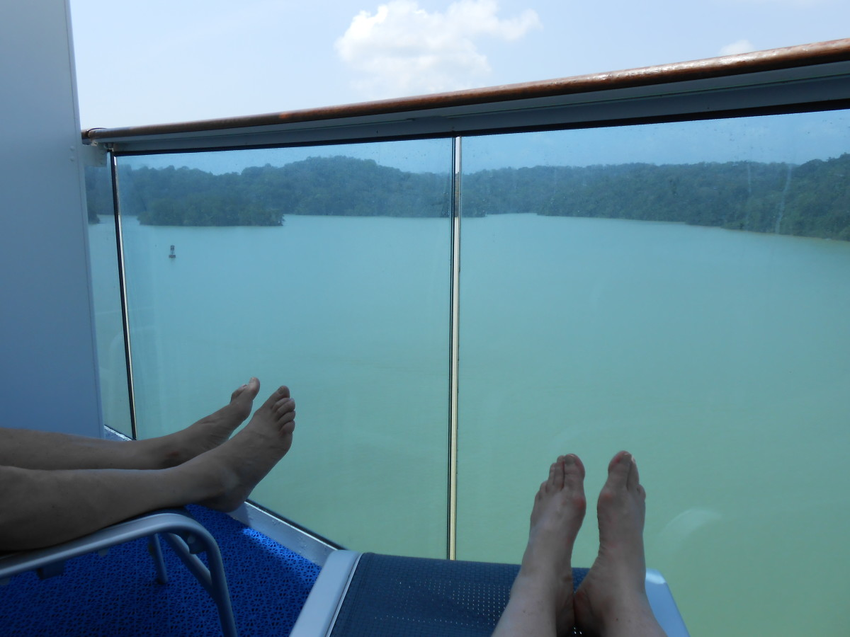A balcony of a cruise ship is a great way to vacation!