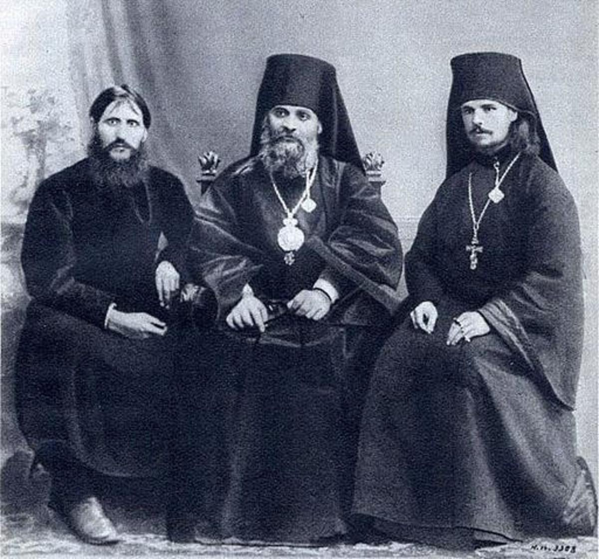 Rasputin with Church leaders. They had no love for the mystic monk.