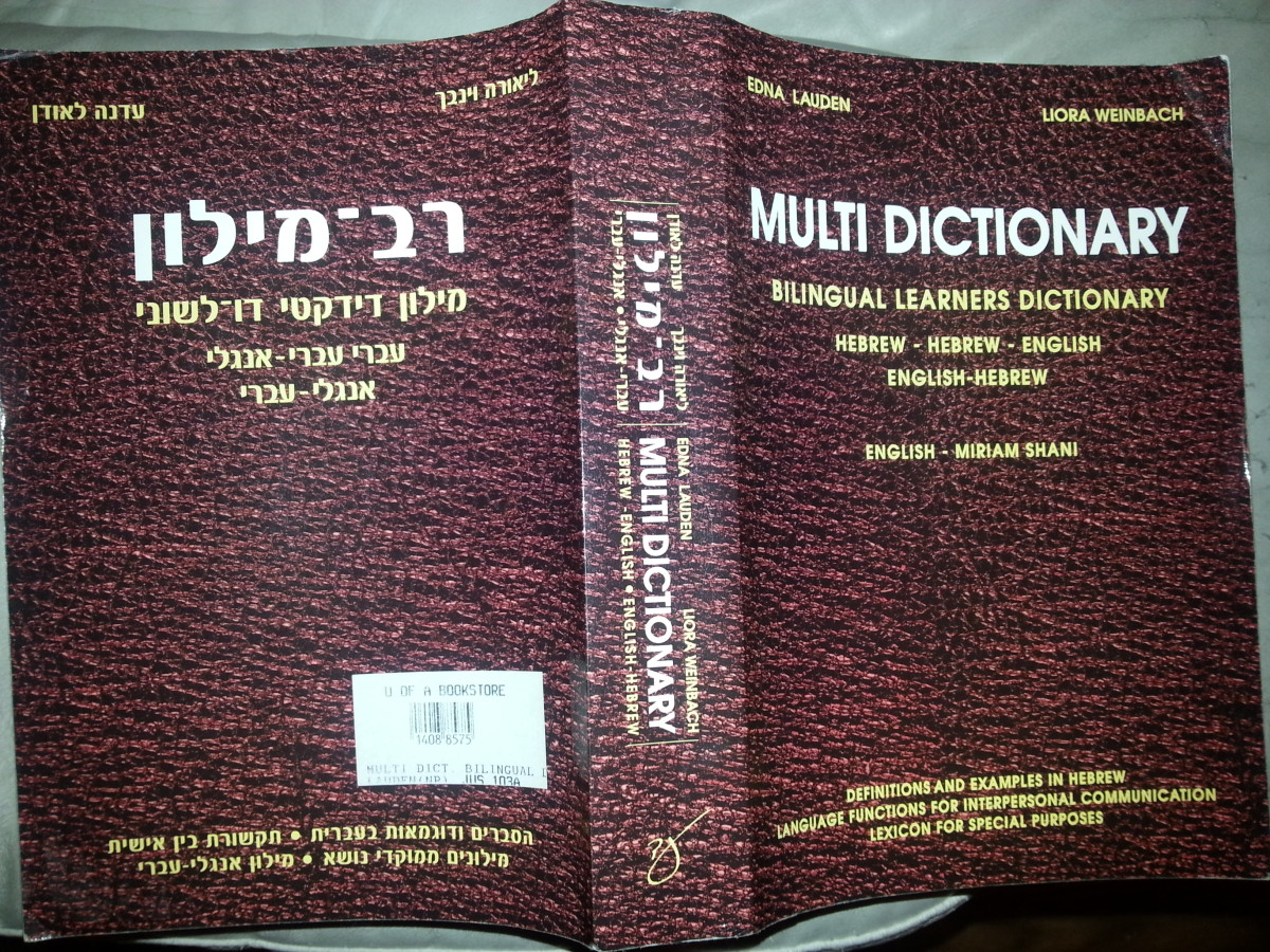 My personal favorite Hebrew-English, English Hebrew dictionary.