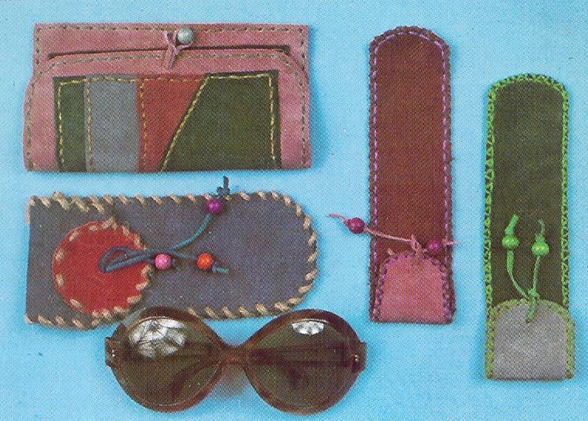 Leather Comb Case & Leather Glasses Case