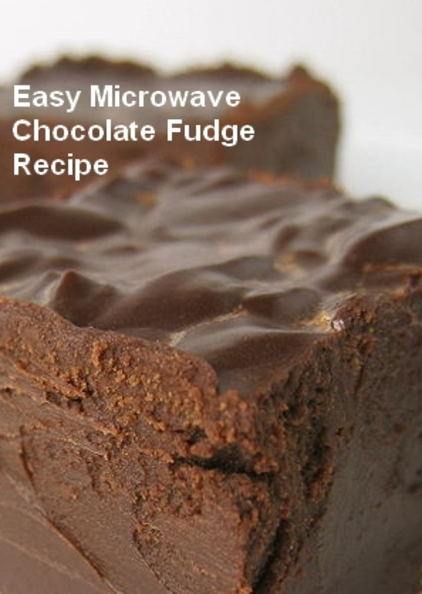 Easy Microwave Chocolate Fudge Recipe.