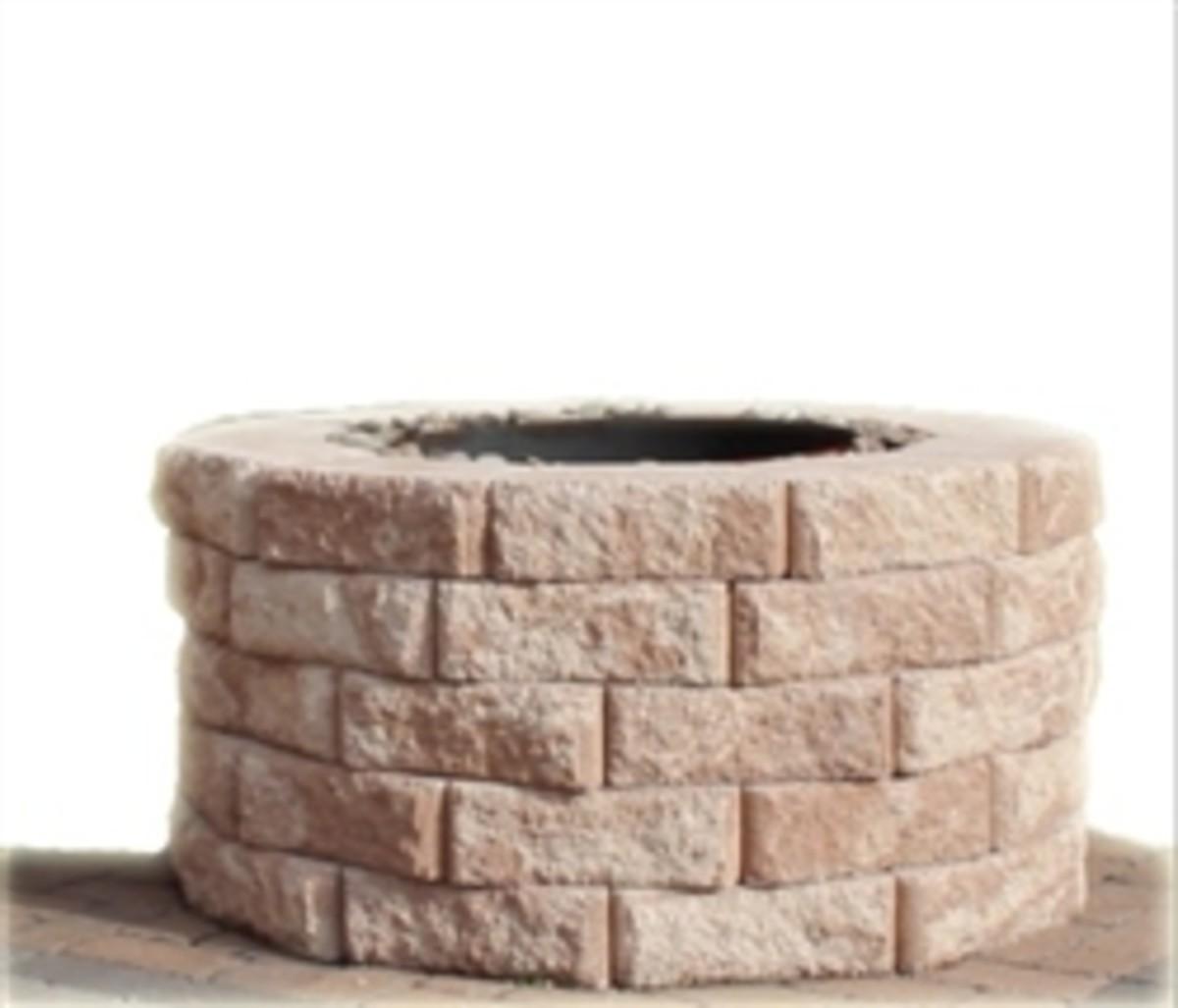 circle paver fire pit