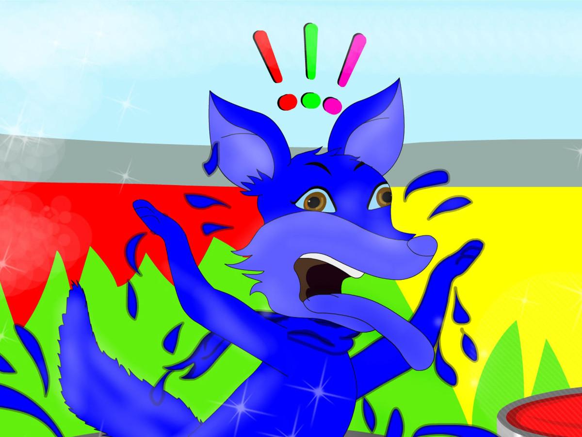 The jackal turns blue!