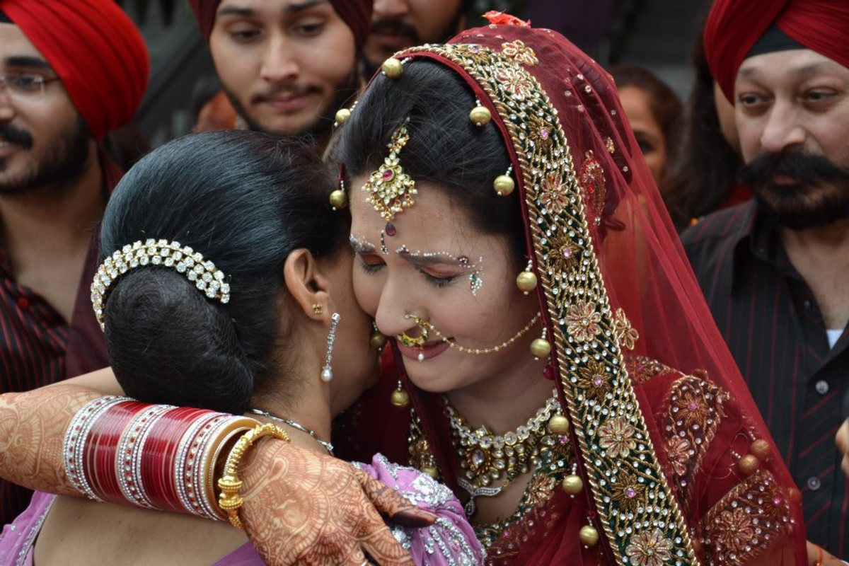 An emotional moment-my daughter and my wife, during my daughter's marriage.