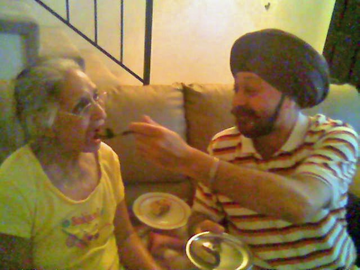 celebrating my mom's 76th birthday after she suffered a stroke, was diagnosed with breast cancer and had a pacemaker in place to regulate her heart rhythm, all within a matter of a few months.