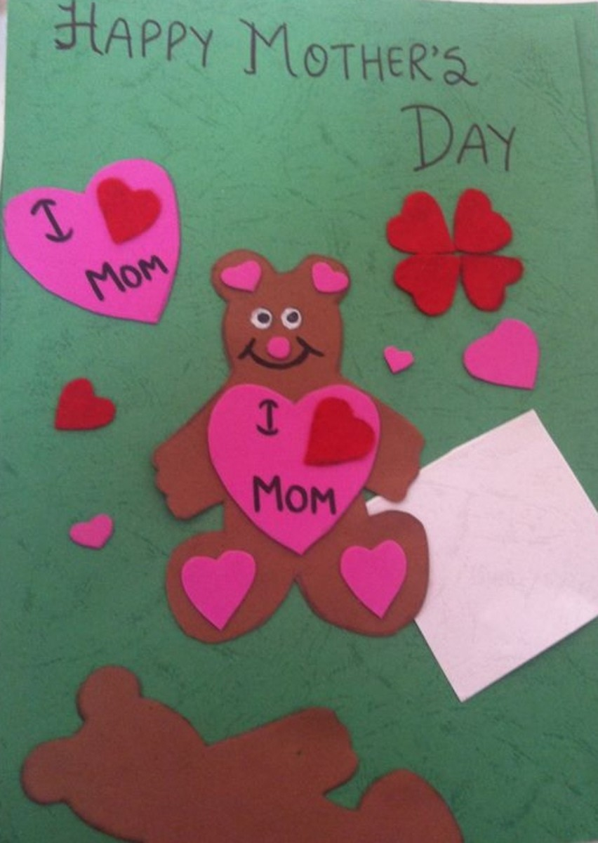 The mothers day card my daughter made for her mother this year-2013