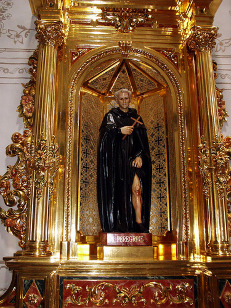 Saint Peregrine is one of the Patron Saints for People With Cancer