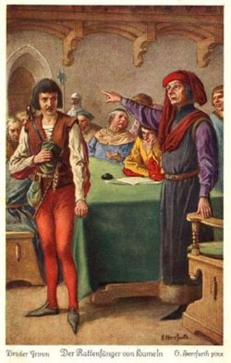 Major against piper (Oskar Herrfurth)