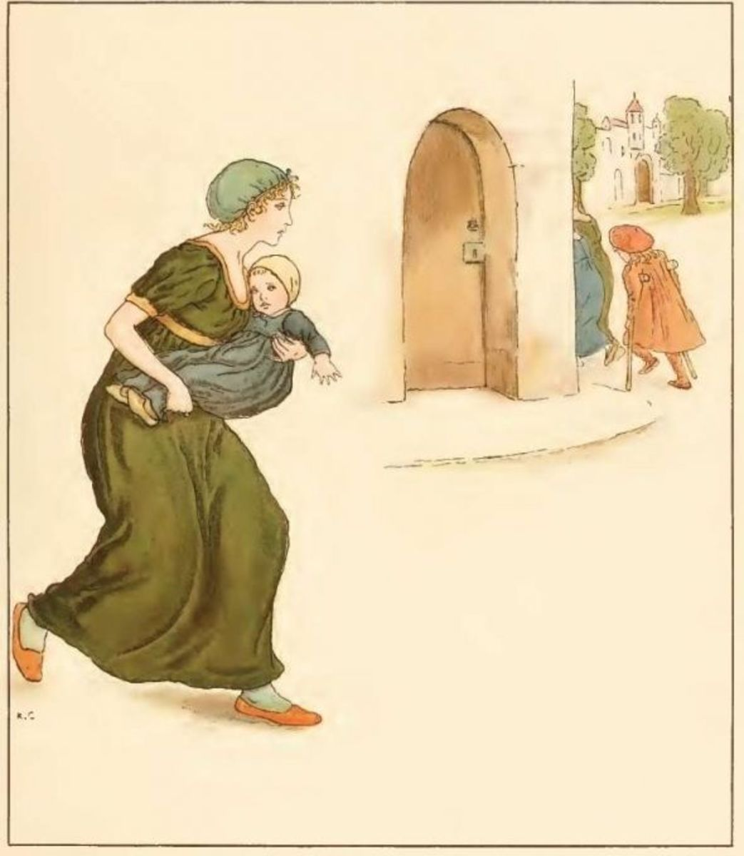 According to the poem The Pied Piper of Hamelin only two handicapped kids stayed in town