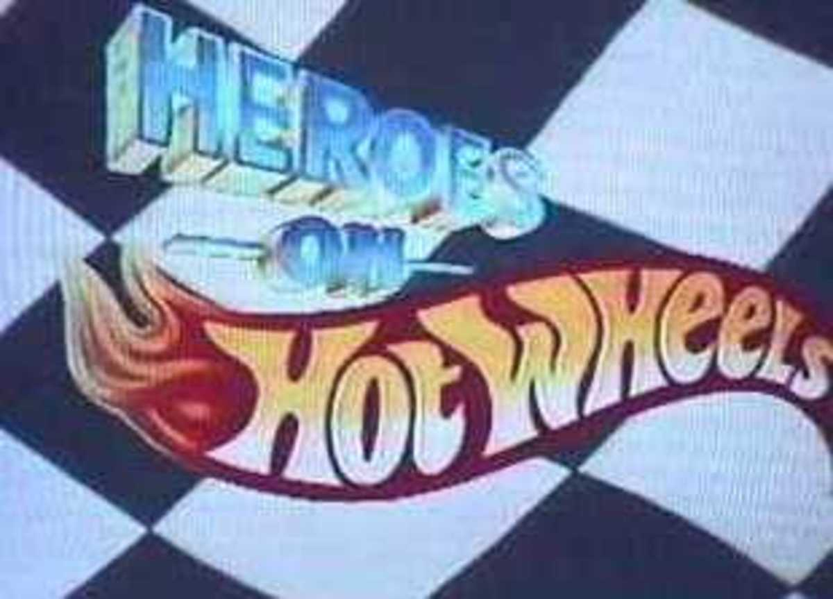 'Heroes On Hot Wheels' U.S. version logo.